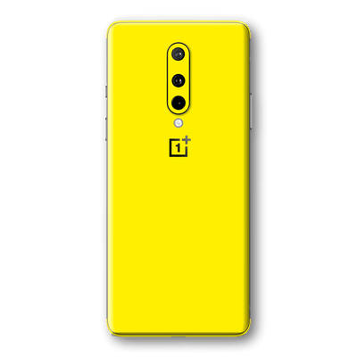 OnePlus 8 Lemon Yellow Glossy Gloss Finish Skin Wrap Sticker Decal Cover Protector by EasySkinz