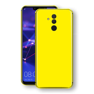 Huawei MATE 20 LITE Lemon Yellow Glossy Gloss Finish Skin, Decal, Wrap, Protector, Cover by EasySkinz | EasySkinz.com