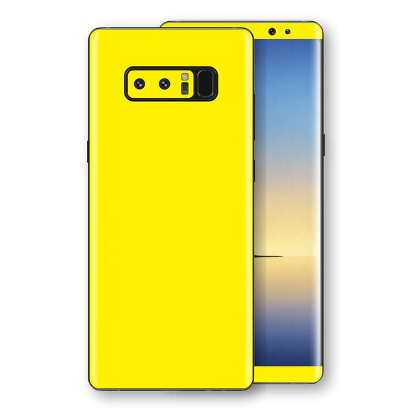 Samsung Galaxy NOTE 8 Lemon Yellow Glossy Gloss Finish Skin, Decal, Wrap, Protector, Cover by EasySkinz | EasySkinz.com