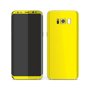 Samsung Galaxy S8 Lemon Yellow Glossy Gloss Finish Skin, Decal, Wrap, Protector, Cover by EasySkinz | EasySkinz.com