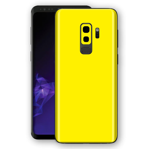 Samsung GALAXY S9+ PLUS Lemon Yellow Glossy Gloss Finish Skin, Decal, Wrap, Protector, Cover by EasySkinz | EasySkinz.com