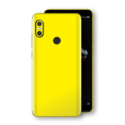 XIAOMI Redmi NOTE 5 Lemon Yellow Glossy Gloss Finish Skin, Decal, Wrap, Protector, Cover by EasySkinz | EasySkinz.com