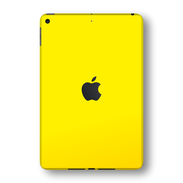 iPad MINI 5 (5th Generation 2019) Glossy Lemon Yellow Skin Wrap Sticker Decal Cover Protector by EasySkinz