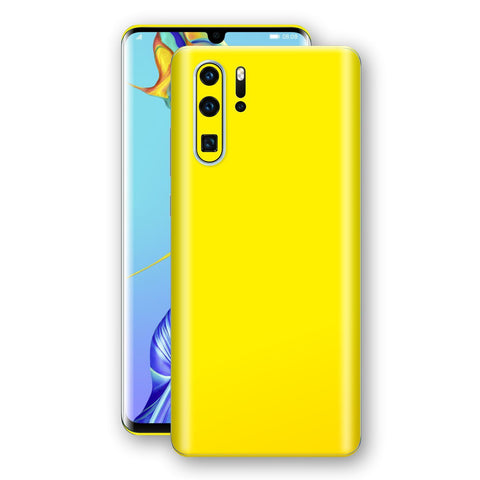 Huawei P30 PRO Lemon Yellow Glossy Gloss Finish Skin, Decal, Wrap, Protector, Cover by EasySkinz | EasySkinz.com