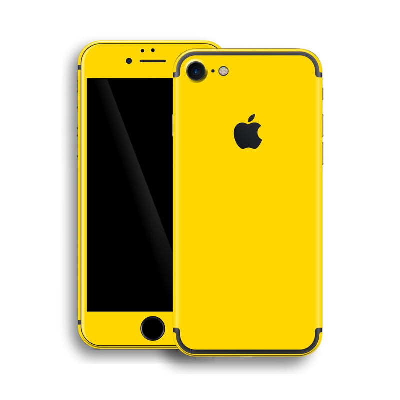iPhone 7 Glossy Lemon Yellow Skin, Wrap, Decal, Protector, Cover by EasySkinz | EasySkinz.com
