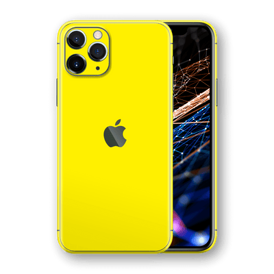 iPhone 11 PRO Glossy Lemon Yellow Skin, Wrap, Decal, Protector, Cover by EasySkinz | EasySkinz.com  Edit alt text
