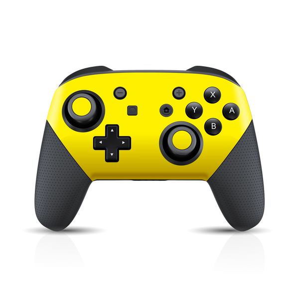 Nintendo Switch Pro CONTROLLER Glossy Lemon Yellow Skin Wrap Sticker Decal Cover Protector by EasySkinz