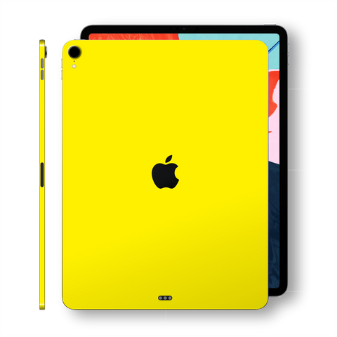 iPad PRO 11-inch (2018) Glossy Lemon Yellow Skin Wrap Sticker Decal Cover Protector by EasySkinz