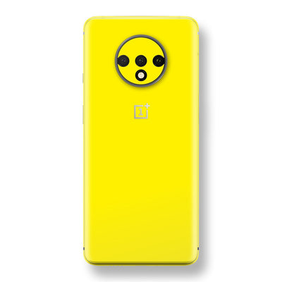 OnePlus 7T Lemon Yellow Glossy Gloss Finish Skin, Decal, Wrap, Protector, Cover by EasySkinz | EasySkinz.com