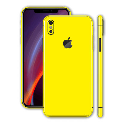 iPhone X Glossy Lemon Yellow Skin, Wrap, Decal, Protector, Cover by EasySkinz | EasySkinz.com