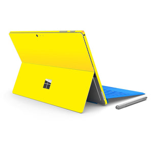 Microsoft Surface PRO 4 Glossy LEMON YELLOW Skin Wrap Sticker Decal Cover Protector by EasySkinz
