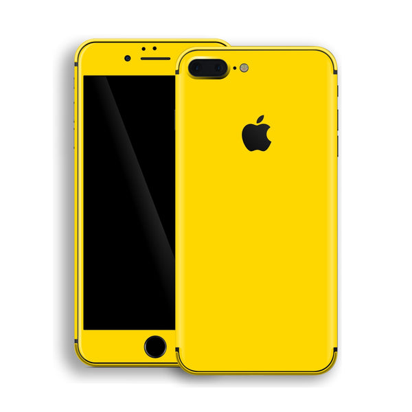 iPhone 8 Plus Lemon Yellow Glossy Gloss Finish Skin, Decal, Wrap, Protector, Cover by EasySkinz | EasySkinz.com