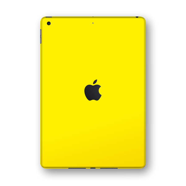 "iPad 10.2"" (7th Gen, 2019) Glossy Lemon Yellow Skin Wrap Sticker Decal Cover Protector by EasySkinz"