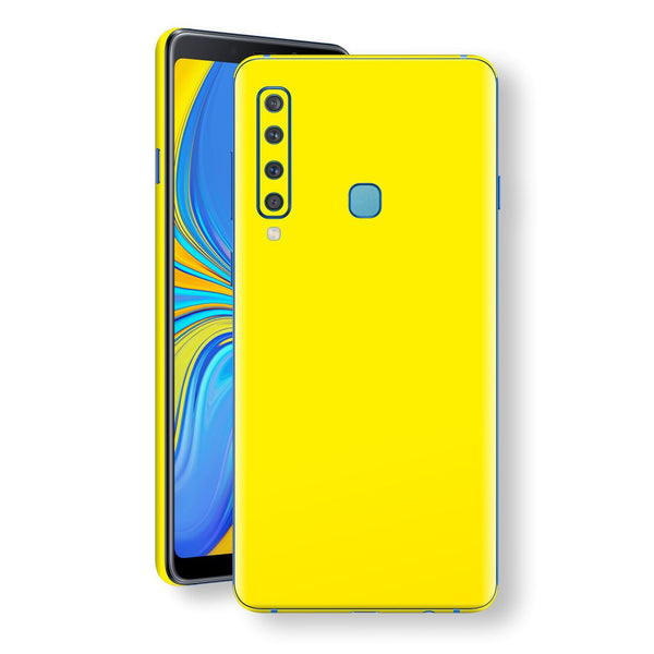 Samsung Galaxy A9 (2018) Lemon Yellow Glossy Gloss Finish Skin, Decal, Wrap, Protector, Cover by EasySkinz | EasySkinz.com