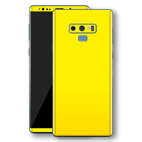 Samsung Galaxy NOTE 9 Lemon Yellow Glossy Gloss Finish Skin, Decal, Wrap, Protector, Cover by EasySkinz | EasySkinz.com