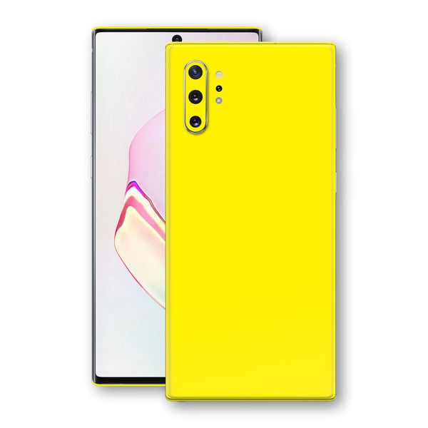 Samsung Galaxy NOTE 10+ PLUS Lemon Yellow Glossy Gloss Finish Skin, Decal, Wrap, Protector, Cover by EasySkinz | EasySkinz.com