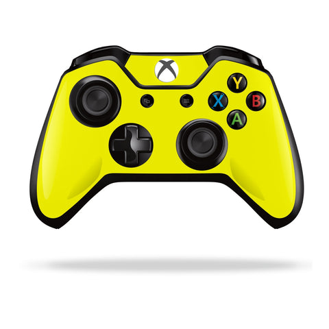 Xbox One Controller Lemon Yellow GLOSSY Finish Skin Wrap Sticker Decal Protector Cover by EasySkinz