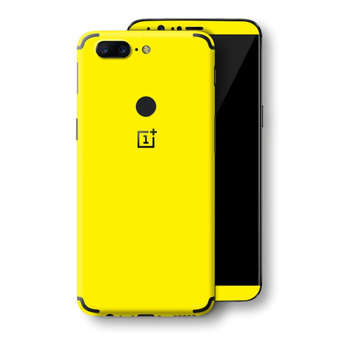 OnePlus 5T Lemon Yellow Glossy Gloss Finish Skin, Decal, Wrap, Protector, Cover by EasySkinz | EasySkinz.com
