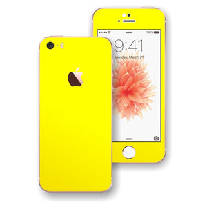 iPhone SE Glossy Lemon Yellow Skin Wrap Decal Sticker Cover Protector by EasySkinz