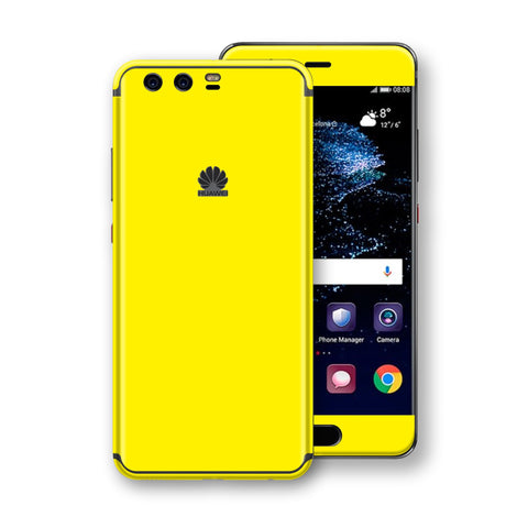 Huawei P10+ PLUS  Lemon Yellow Glossy Gloss Finish Skin, Decal, Wrap, Protector, Cover by EasySkinz | EasySkinz.com