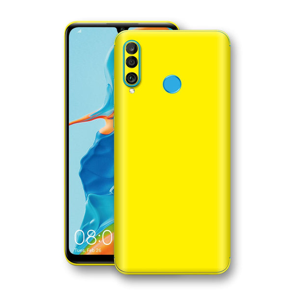 Huawei P30 LITE Lemon Yellow Glossy Gloss Finish Skin, Decal, Wrap, Protector, Cover by EasySkinz | EasySkinz.com