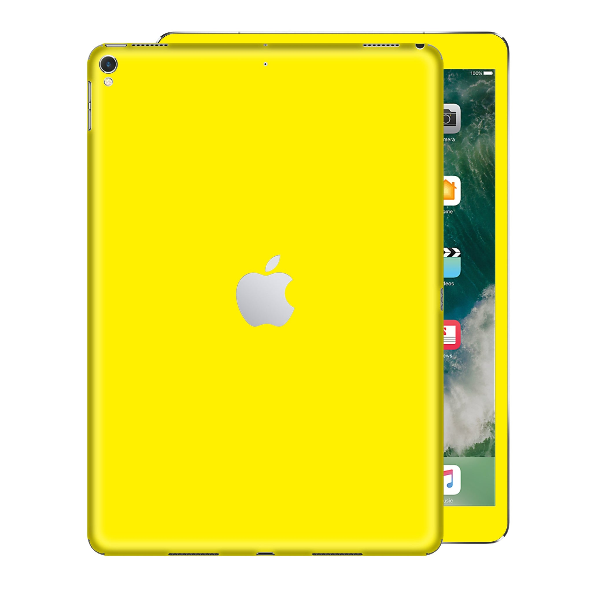 iPad PRO 12.9 inch 2017 Glossy Lemon Yellow Skin Wrap Sticker Decal Cover Protector by EasySkinz