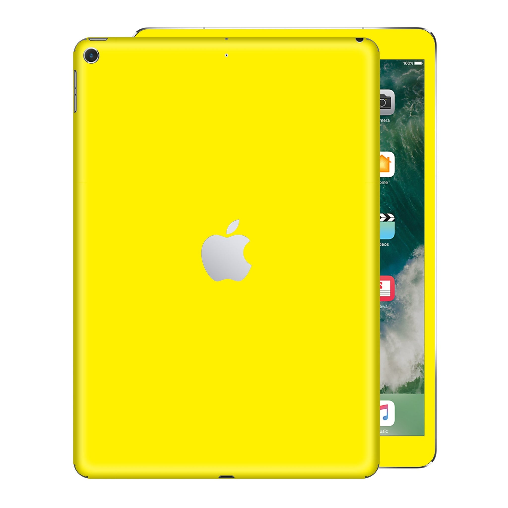 iPad 9.7 inch 2017 Glossy Lemon Yellow Skin Wrap Sticker Decal Cover Protector by EasySkinz