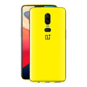 OnePlus 6 GLOSSY Lemon Yellow Skin, Decal, Wrap, Protector, Cover by EasySkinz | EasySkinz.com