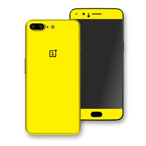 OnePlus 5 Lemon Yellow Glossy Gloss Finish Skin, Decal, Wrap, Protector, Cover by EasySkinz | EasySkinz.com