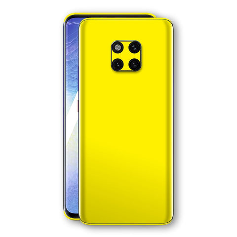 Huawei MATE 20 PRO Lemon Yellow Glossy Gloss Finish Skin, Decal, Wrap, Protector, Cover by EasySkinz | EasySkinz.com