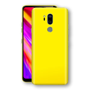 LG G7 ThinQ Lemon Yellow Glossy Gloss Finish Skin, Decal, Wrap, Protector, Cover by EasySkinz | EasySkinz.com