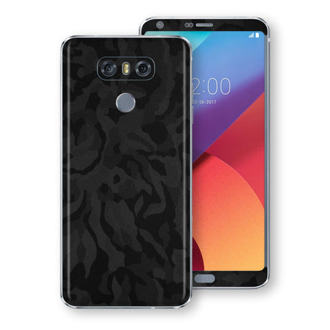 LG G6 Luxuria Black Camo Camouflage 3D Textured Skin Wrap Decal Protector | EasySkinz