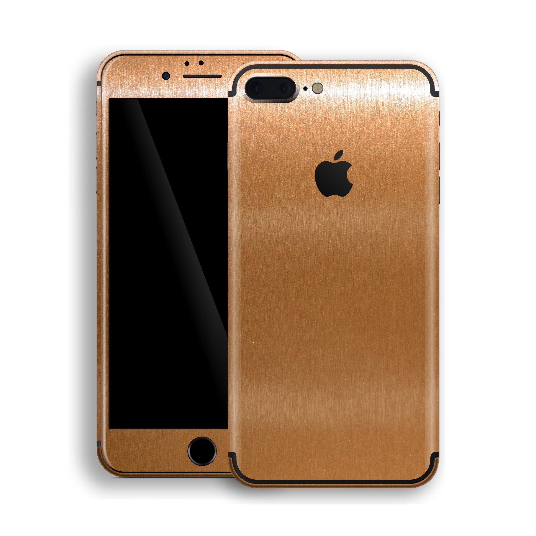 iPhone 7 Plus Brushed Copper Metallic Skin, Decal, Wrap, Protector, Cover by EasySkinz | EasySkinz.com