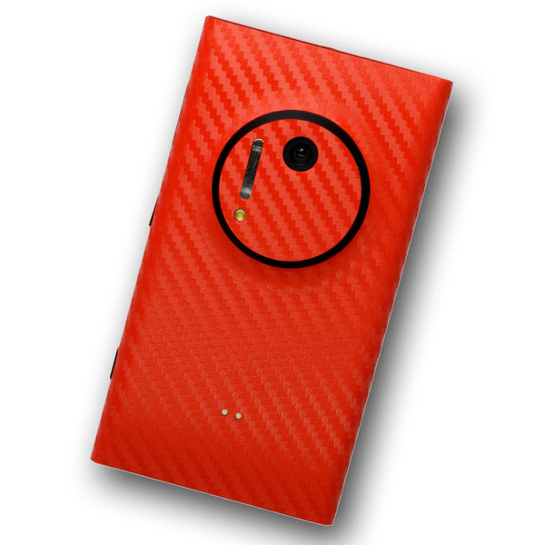 Nokia Lumia 1020 Red Carbon Skin