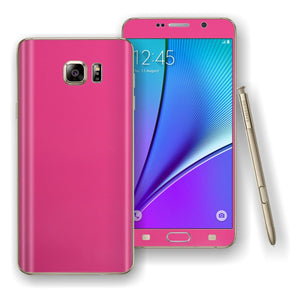 Samsung Galaxy NOTE 5 Magenta Glossy Skin Wrap Decal Cover Protector by EasySkinz