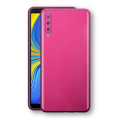 Samsung Galaxy A7 (2018) Magenta Glossy Gloss Finish Skin, Decal, Wrap, Protector, Cover by EasySkinz | EasySkinz.com
