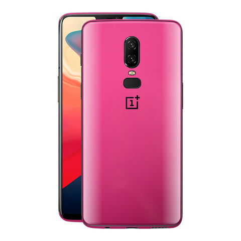 OnePlus 6 Magenta Glossy Gloss Finish Skin, Decal, Wrap, Protector, Cover by EasySkinz | EasySkinz.co