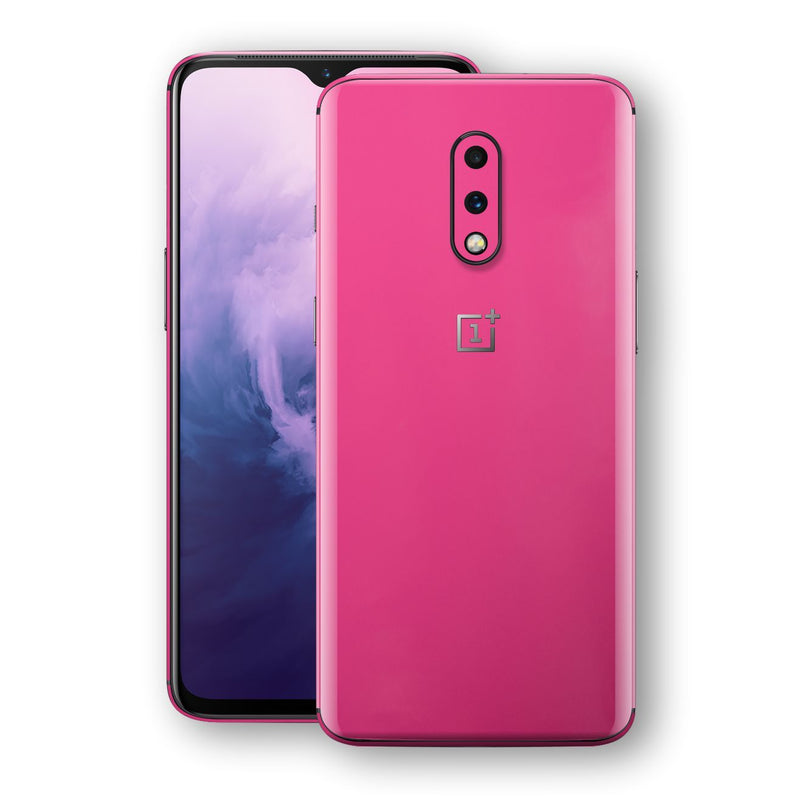 OnePlus 7 Magenta Glossy Gloss Finish Skin, Decal, Wrap, Protector, Cover by EasySkinz | EasySkinz.com