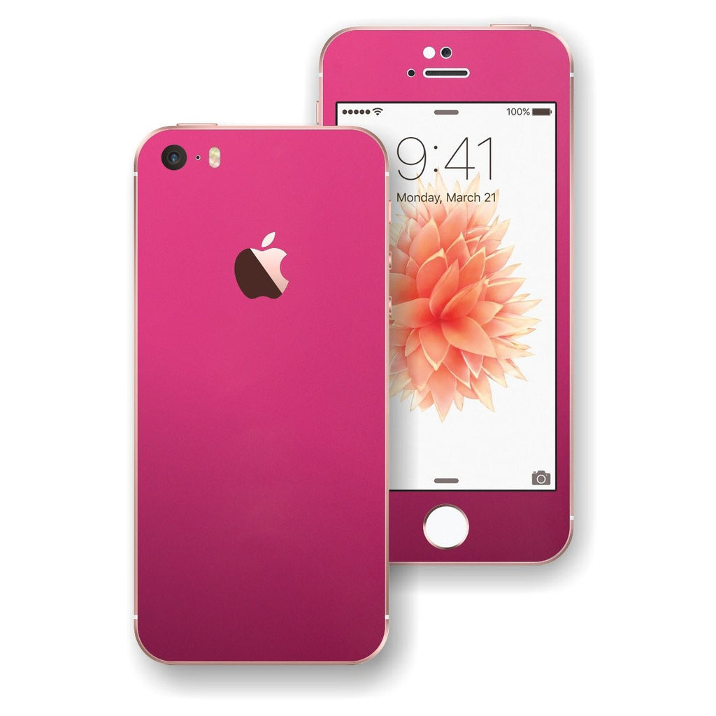 iPhone SE Glossy Magenta Skin Wrap Decal Sticker Cover Protector by EasySkinz