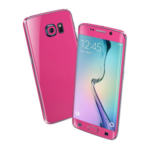 Samsung Galaxy S6 EDGE Colorful GLOSS GLOSSY Magenta Skin Wrap Sticker Cover Protector Decal by EasySkinz