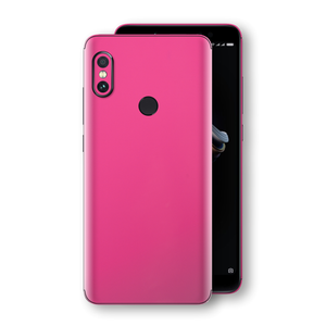 XIAOMI Redmi NOTE 5 Magenta Glossy Gloss Finish Skin, Decal, Wrap, Protector, Cover by EasySkinz | EasySkinz.com