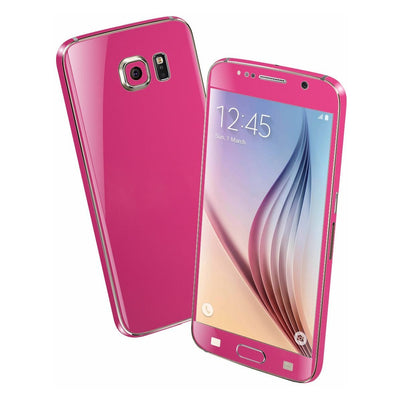 Samsung Galaxy S6 Colorful GLOSS GLOSSY Magenta Skin Wrap Sticker Cover Protector Decal by EasySkinz