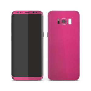 Samsung Galaxy S8 Magenta Glossy Gloss Finish Skin, Decal, Wrap, Protector, Cover by EasySkinz | EasySkinz.com