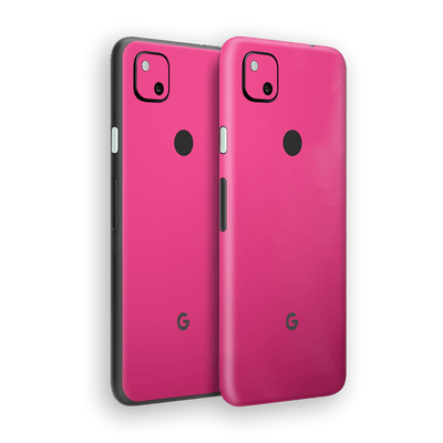 Google Pixel 4a Magenta Glossy Gloss Finish Skin Wrap Sticker Decal Cover Protector by EasySkinz