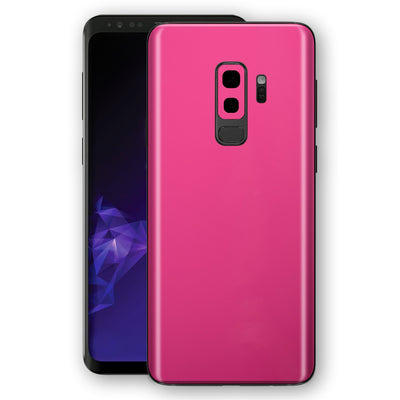Samsung GALAXY S9+ PLUS Magenta Glossy Gloss Finish Skin, Decal, Wrap, Protector, Cover by EasySkinz | EasySkinz.com