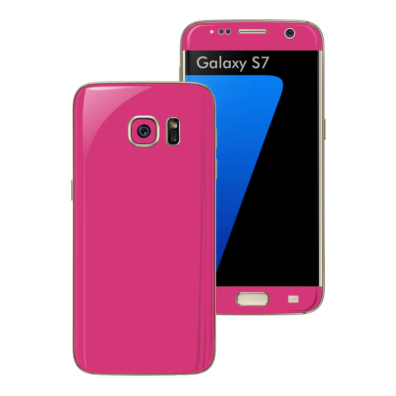Samsung Galaxy S7 Glossy Magenta Skin Wrap Decal Sticker Cover Protector by EasySkinz