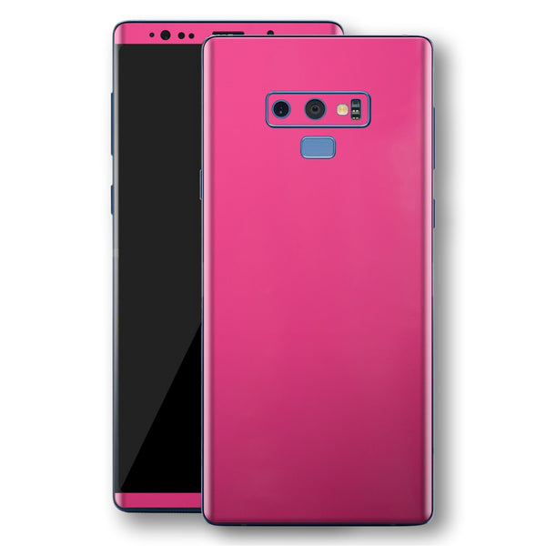 Samsung Galaxy NOTE 9 Magenta Glossy Gloss Finish Skin, Decal, Wrap, Protector, Cover by EasySkinz | EasySkinz.com