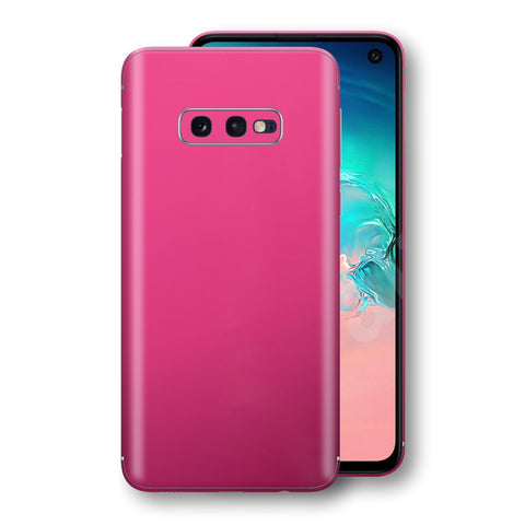 Samsung Galaxy S10e Magenta Glossy Gloss Finish Skin, Decal, Wrap, Protector, Cover by EasySkinz | EasySkinz.com