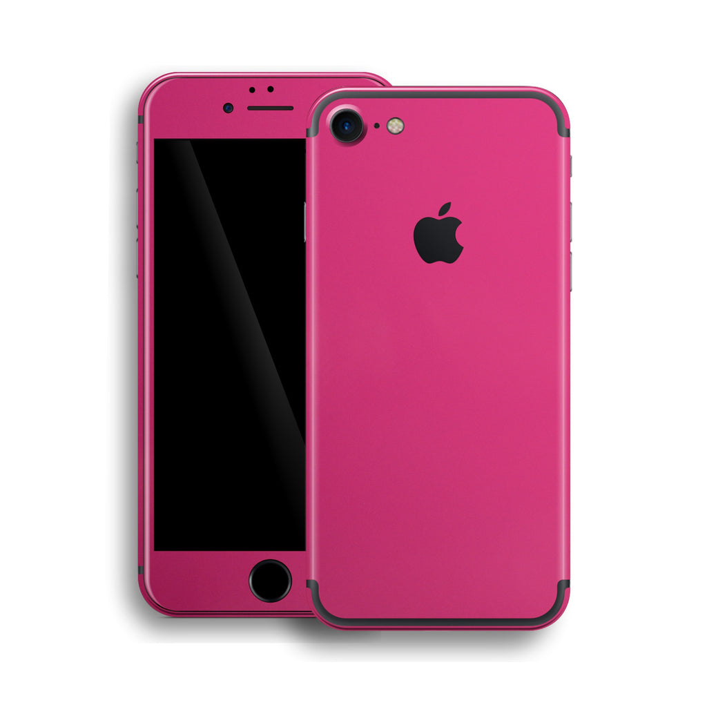 iPhone 7 Glossy Magenta Skin, Wrap, Decal, Protector, Cover by EasySkinz | EasySkinz.com