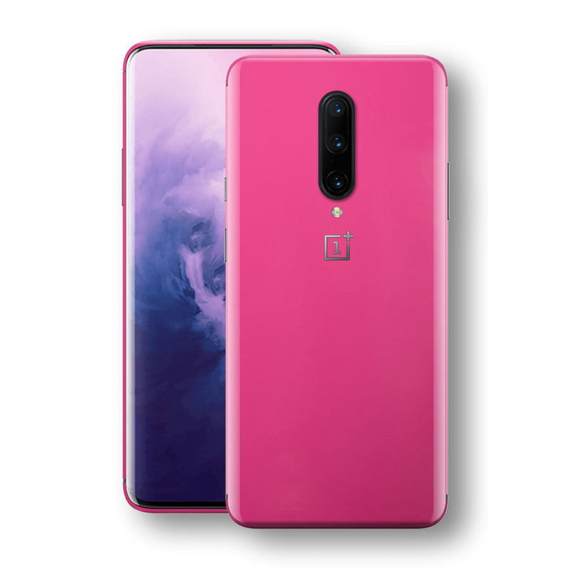 OnePlus 7 PRO Magenta Glossy Gloss Finish Skin, Decal, Wrap, Protector, Cover by EasySkinz | EasySkinz.com